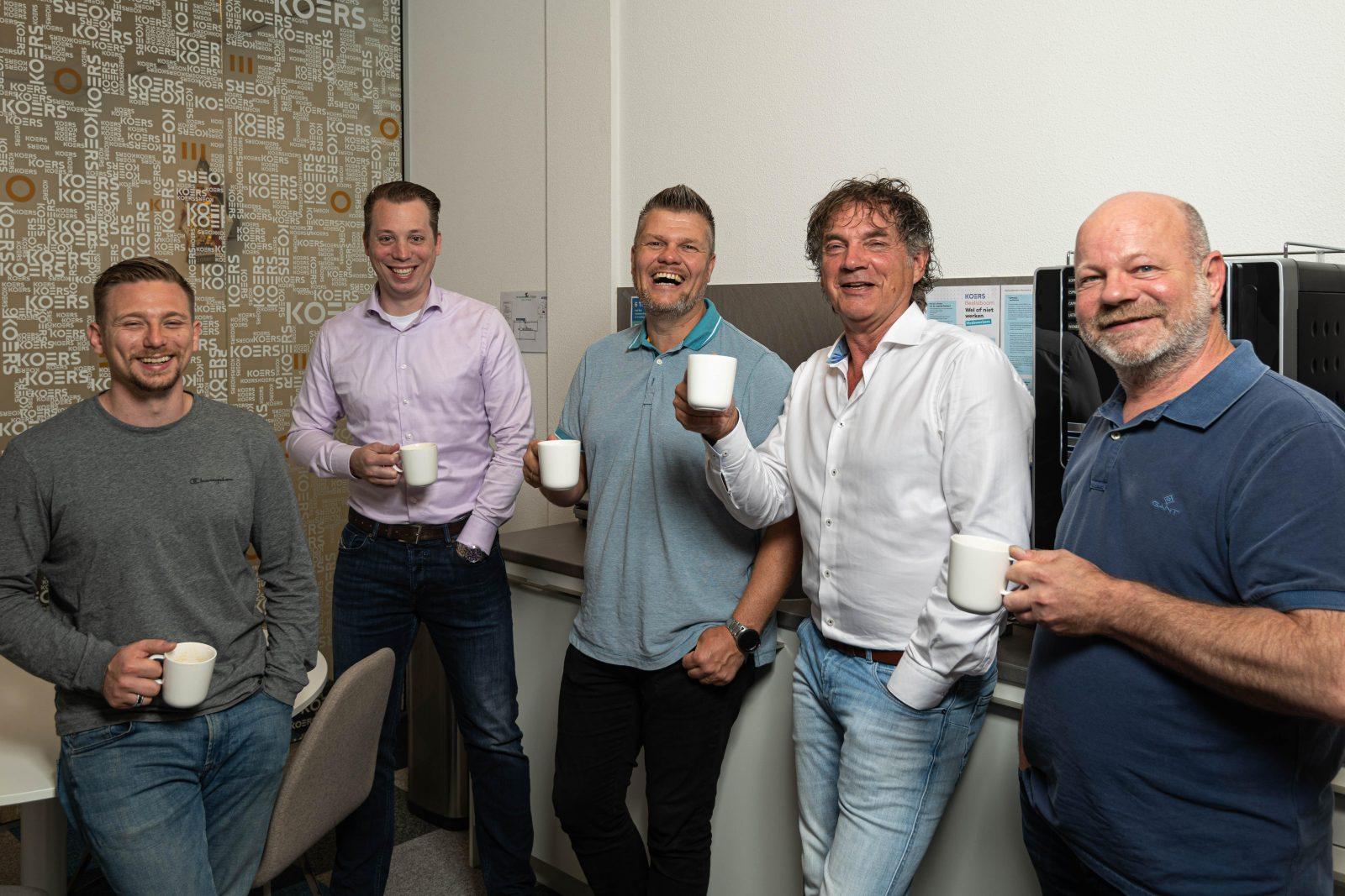 """Team KOERS Waddinxveen: """"Altijd tijd voor koffie met een lach."""""""